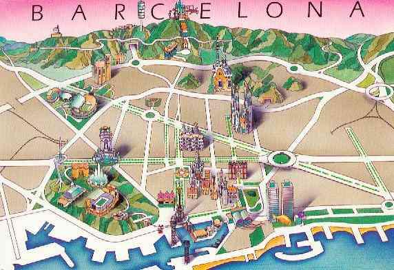 Схема города, на которой видны